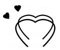 Hartjes tattoo voorbeeld Verbonden Hartjes