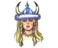 Vikingen tattoo voorbeeld Viking Vrouw