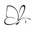 Nieuw!!! Plaktattoos tattoo voorbeeld Vlinder lijntekening