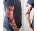 Tattoo sleeves armen tattoo voorbeeld Sleeve 23 Vlinders Roze