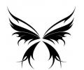 Vlinders tattoo voorbeeld Vlindertribal