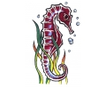 Zeemeermin tattoo voorbeeld Zeepaard 1